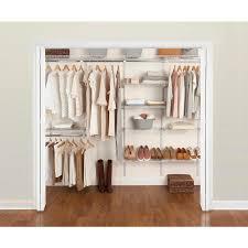 rubbermaid fasttrack 6 10 ft closet kit white