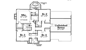 southern house plan second floor 026d 1772 house planore