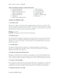 Resume Sections Enchanting Sections Of A Resume 48 Sections Resume Sections Examples