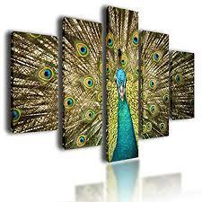 large canvas picture wall art split multi panel framed image artwork peacock 100cm x 70cm 0390 on multi panel wall art uk with large canvas picture wall art split multi panel framed image artwork