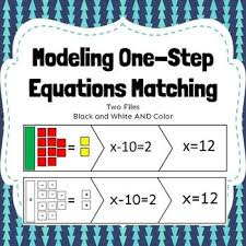 model one step equations with algebra