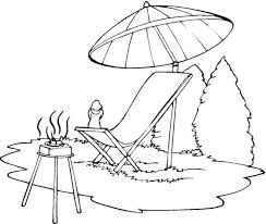 Small Picture Lounge Chair Beach Umbrella Coloring page Coloring Pages Clip
