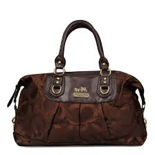 Coach Madison Logo Signature Large Coffee Luggage Bags 21612