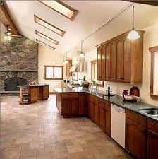 Natural Stone Kitchen Flooring Flooring Ideas Cream Natural Stone Kitchen Tile Flooring With