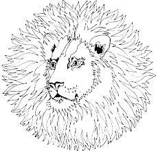 Mandala Disegno Da Colorare Gratis 143 Con Animali Leone Disegni