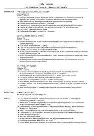 Information Technology Intern Job Description Technology Intern Resume Samples Velvet Jobs 19