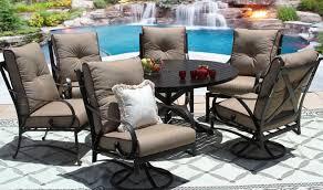newport cast aluminum outdoor patio 7pc