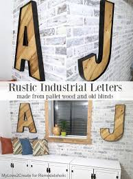 rustic industrial letters made