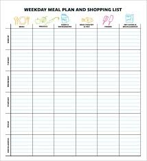 Meal Planning Spreadsheet Excel Meal Planning Template 17 Download Free Documents In Pdf