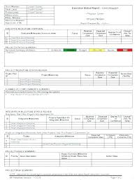Weekly Sta Report Template Word Project Progress Reporting