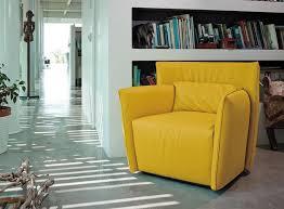 tulip leather armchair gamma international italy