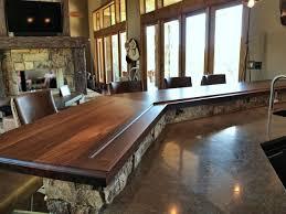 picture of slab walnut wood countertop photo gallery devos custom woodworking butcher block bar top