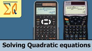 sharp el w516 el w506x elw 516x solving quadratic equation