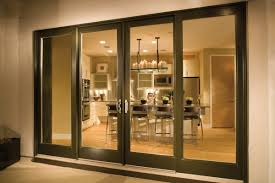 door patio window world: milgard ultra woodclad oversized four panel bi parting gliding door closed