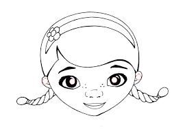 Maschera Di Dottoressa Peluche Da Stampare Colorare Ritagliare E