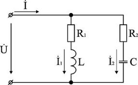 Электротехника Цепи переменного тока Положим что заданы величины r1 r2 l С частота f и входное напряжение u Требуется определить токи в ветвях и ток всей цепи