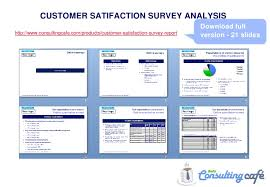 Satisfaction Survey Report Customer Satisfaction Survey Analysis