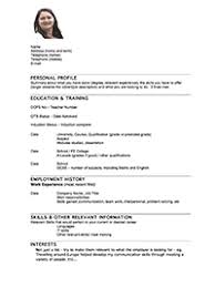 Cv For Teaching Teaching Supply Agency