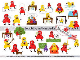 Verb Action Teaching Action Verbs Clipart Digital Flashcards Digital Image Set 300 Dpi School Teacher Clip Art Reading Flashcards Reading Grammar