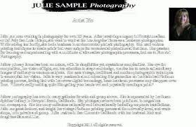 Artist Biography Samplesartist Bio Example Biography Template Delectable Resume Bio