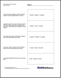 Maths Word Problem Worksheets For Addition Multiplication And ...