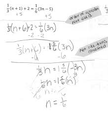 solve for n students are asked to a linear equation in one solving equations with fractions