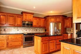 cherry kitchen cabinets black granite. Kitchen Decoration Design Ideas Using Black Granite Counter Tops Including Light Brown Solid Cherry Cabinets