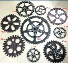 beautiful inspiration gear wall decor with factory direct nice new design decoration small large industrial gears