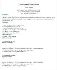 Resume For Prescho Resume For Preschool Teacher Amazing Resume