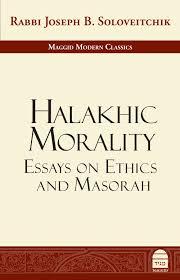Maggid Halakhic Morality Essays On Ethics And Masorah