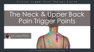 Muscle Pressure Points Chart The Neck And Upper Back Pain Trigger Points