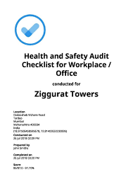 Safety Audit Checklist Health And Safety Checklists Free Download