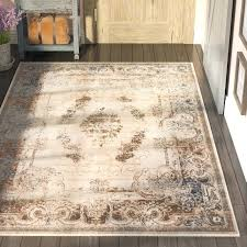 area rug cream light blue and