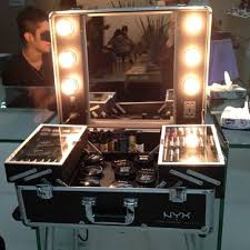 x large makeup artist train case with lights nyx cosmetics owless
