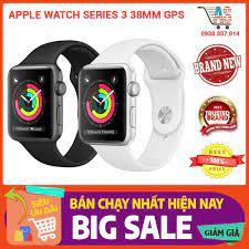 Đồng hồ thông minh Apple watch series 3 GPS 38mm viền nhôm dây cao su chính  hãng