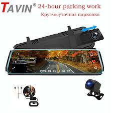 <b>TAVIN</b> 10inch touch screen <b>Dash cam Dual</b> lens Rearview mirror ...