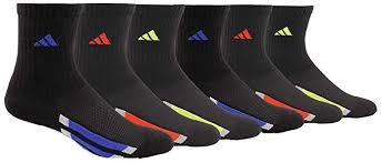 Adidas Boys Socks Size Chart Adidas Kids Boys Girls Cushioned Crew Socks 6 Pair