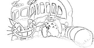 Small Picture Neighbor Totoro Coloring Pages And Printables Bebo Pandco