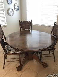 oak dining table with 2 leaf extensions and 6 chairs for in el cajon ca offerup