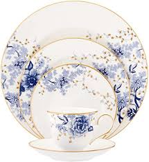 Lenox Garden Grove 5-Piece Place Setting, White ... - Amazon.com