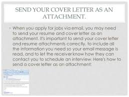 How to Email Cover Letter and Resume Attachments Biztree