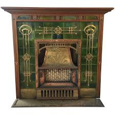 breath taking art deco fireplace circa 1920s