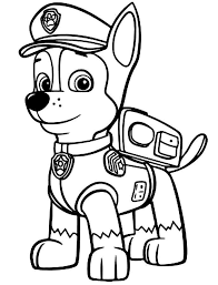Paw Patrol Coloring Pages Chase Coloring Pages For Kids Paw