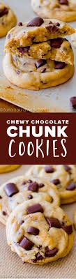 the chewiest softest thickest chocolate chip cookies with cornstarch and extra brown sugar for