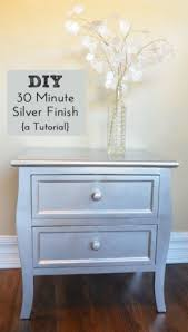 diy metallic furniture. diy silver finish a tutorial follow at they diy metallic furniture