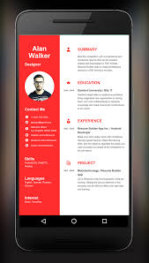 Resume Builder App- screenshot