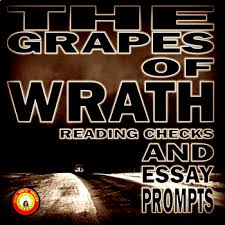 the grapes of wrath teaching resources teachers pay teachers  the grapes of wrath chapter reading checks and essay prompts