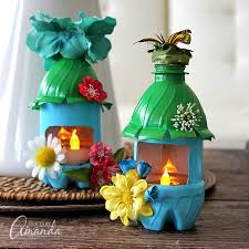 Water Bottles To Decorate Fairy House Night Lights from Plastic Bottles recycle craft 55