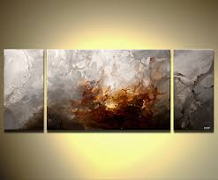 Small Picture Prints painting triptych modern home decor art 6562