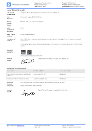 Free Near Miss Reporting Template Easily Customisable